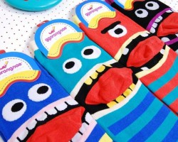 Socks with characters