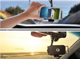 Wireless charger for mobile phones in cars